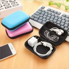 Zipper Headphone Portable Earphone Storage box Protective USB Cable Organizer