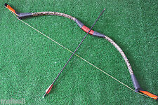 40lb Leopard Recurve Bow Archery Handmade Traditional Bow Hunting