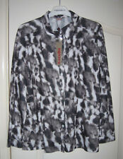 Finn Karelia - Grey & Black Dappled Blouse Shirt New With Tags UK16 (42)