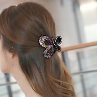Crystal Hair Claw Alloy Rhinestone Grab Clip Clamp Women Hair Style Accessories~