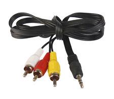 3.5MM Jack Cable Enchufe Macho Conector Adaptador de 3RCA Video Audio Para Ipod MP3/4 Av