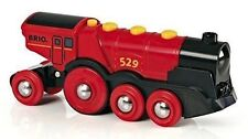 Holzeisenbahn BRIO 33592 rote Lola Batterielok