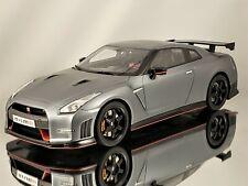 GT Spirit Nissan GT-R R35 Nismo Silver Grey w/ Carbon Fiber Resin Car Model 1:18