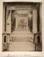 Italia Monumento Di Dante Ravenna Albumina Vintage Albume D'Uovo Ca 1880