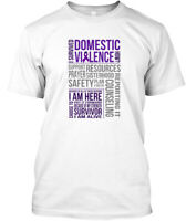 Domestic Violence Survivor - I Survived How? Hanes Tagless Tee T-Shirt
