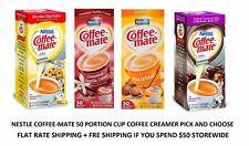 Coffee-mate Liquid Coffee Creamer 50 -0.375 fl. oz. Tub 1 ITEM PER / CHEAP SHIP