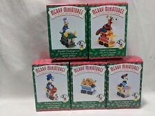 1998 Hallmark Merry Miniatures Mickey Express Set of 5 Minnie Pluto Donald Goofy