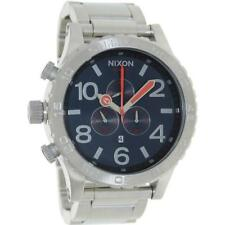*NEW* NIXON 51-30 A083-307 WATCH MENS NAVY DIAL SILVER TONE - NEXT DAY DELIVERY