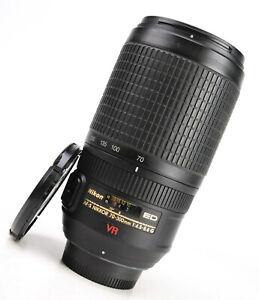 Nikon AF-S 70-300mm F4.5-5.6 G VR ED AF Zoom Lens + Front & Rear Lens Caps