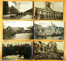 6 Photo Postcards King of Italy & Victims of Earthquake Destruction Messina 1908