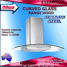 EUROTAG 90cm Rangehood Stainless Steel curved Glass 900MM Kitchen Canopy $599.00