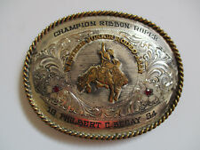 1994 Champion Ribbon Roper Western Junior championship cowboy rodeo belt buckle