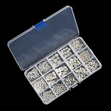 Sliver Plated Jewellery Making Starter Kit Beads Pliers Chain Cord Tool +Box Kit