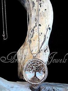 GENUINE MI MILANO NECKLACE/PENDANT TREE OF LIFE/PEARL COIN/MONEDA ROSE GOLD AJMM