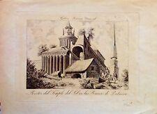 SYRIA, PALMYRA, Templo del Sol, grabado original ca. 1850.