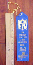 NFL Punt, Pass and Kick Football Competition 1st Place Gatorade Ribbon unused