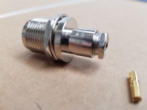 N-TYPE(f) Female Cntr/pin Socket for Bulkhead & Clamp/Sldr RG58 cable (PK of 10)