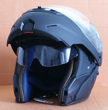 TOP Integralhelm Klapphelm Motorradhelm Jethelme Helm Matt Schwarz S M L XL