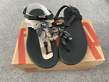 Brand New Fitflop Tia Black Dragonfly Sandals Uk 6 Summer