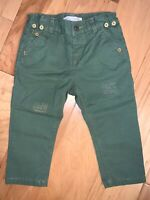 ZARA BABY BOYS OLIVE GREEN PANTS SIZE 12-18M EXCELLENT COND LD5 WORE ONCE