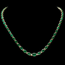 Certified Colombian 25.00cttw and 1.50cttw Diamond 14KT Yellow Gold Necklace