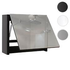 Spiegelschrank HWC-B19, Wandspiegel Badspiegel Badezimmer, aufklappbar hochglanz