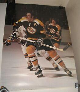 ROLLED 1973 NHL HOCKEY BOSTON BRUINS PINUP POSTER PORTNOY PHOTO 18 x 24