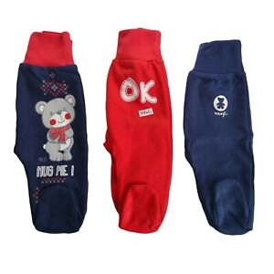 Baby Boys Trousers with feet Pants 100% Cotton NEWBORN