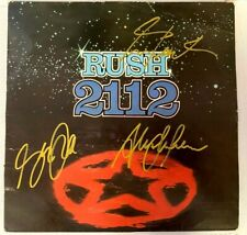 RUSH Autographed Signed 2112 LP Cover by All 3 Band Members