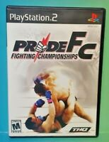 Pride FC Fighting PS2 Playstation 2 COMPLETE Game 1 Owner FLAWLESS Mint Disc