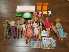 Vintage Barbie 1960s to 1970s Ken Doll Darcy Doll Lot Dream Furniture Clothing