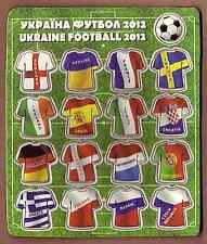 MAGNET 17 in 1 UKRAINE UEFA EURO 2012 FOOTBALL SOCCER EUROPEAN TEAMS UNIFORM KIT