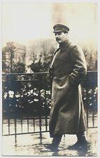 Photo Postcard ~ Joseph Stalin Walking Down a Street in the Rain  c1940s