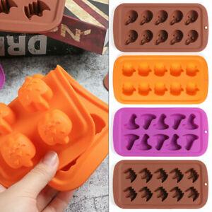 Halloween Skull Pumpkin Skeleton Silicone Mould Chocolate Cake Baking Ice Mold
