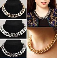 Women Fashion Jewelry Crystal Statement Bib Choker Chain Pendant Necklace Gift
