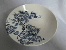 ROYAL STAFFORD RARE BLUE FLORAL BLUE AND WHITE 8.75 INCH PASTA BOWL /CEREAL DISH