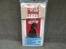 "Best Of Breed Poodle Flag NOS Denier Nylon 28"" X 40"""