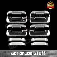 For 04-14 Ford F-150 4Drs Handle W/o Psgkh W/Keypad ABS Chrome Covers