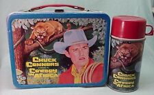 Vintage Rare 1968 Chuck Conners Cowboy in Africa metal lunch box & thermos