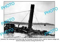 OLD 8x6 PHOTO KUTTABUL FERRY SUNK BY JAPAN MIDGET SUBMARINE SYDNEY HARBOUR