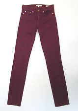 Women's TORY BURCH SUPER SKINNY Colored Low rise Jeans size 24 x 33