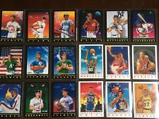 1991-92 Fleer Basketball Baseball Pro-visions Insert Complete Set Lot Jordan