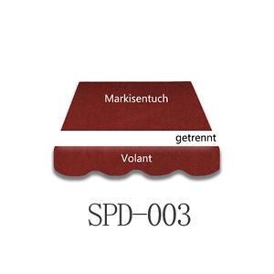 4X3m Markisenstoff Markisentuch ohne Volant mit UV fertig genäht B-Ware SPD003
