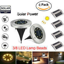3/8 LED Solar Power Buried Light Under Ground Lamp Outdoor Path Way Garden Deck