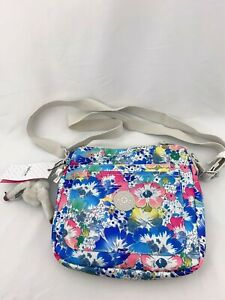 NWT KIPLING Sebastian Crossbody Shoulder Bag Bloom Nylon HB6666 Top Zip