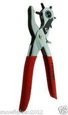 leather hole punch heavy duty 6 size 9'' hand pliers belt hole punch revolving