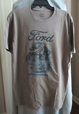 "Lucky Brand ""Ford"" Men's S/S Graphic Tee, Brown, Size M"