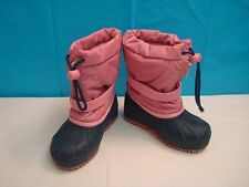 GIRLS BUSTER BROWN CHILL CHASERS THINSULATE WINTER BOOTS SIZE 10 PINK DARK BLUE