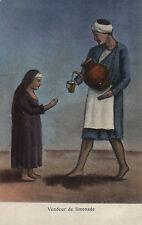 PC ETHNIC NUDE FEMALE, VENDEUR DE LIMONADE, Vintage Postcard (b7703)