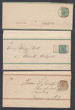 Germany Mi S6, S7 I, S8, used. 1880-89 Wrappers, 3 different, F-Vf.